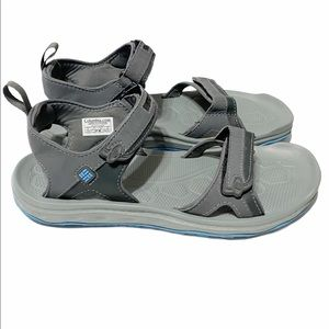 Columbia Gray and Blue Techlite Sandals
